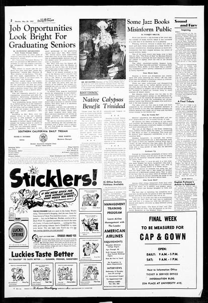 Daily Trojan, Vol. 48, No. 134, May 20, 1957