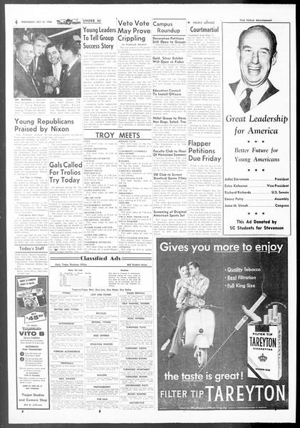 Daily Trojan, Vol. 48, No. 29, October 31, 1956