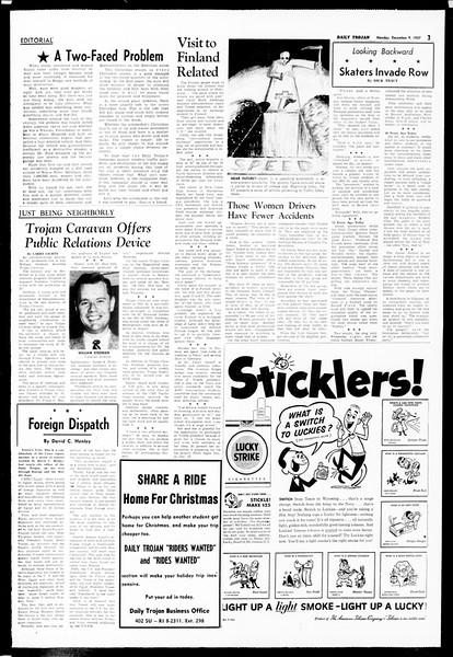 Daily Trojan, Vol. 49, No. 51, December 09, 1957