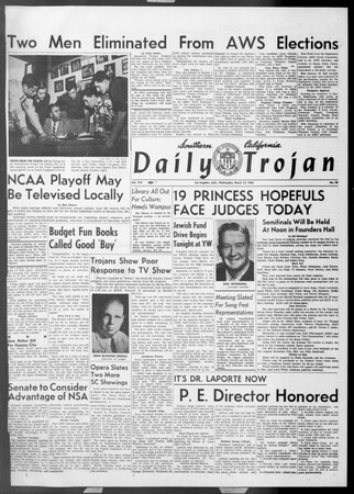 Daily Trojan, Vol. 45, No. 95, March 17, 1954