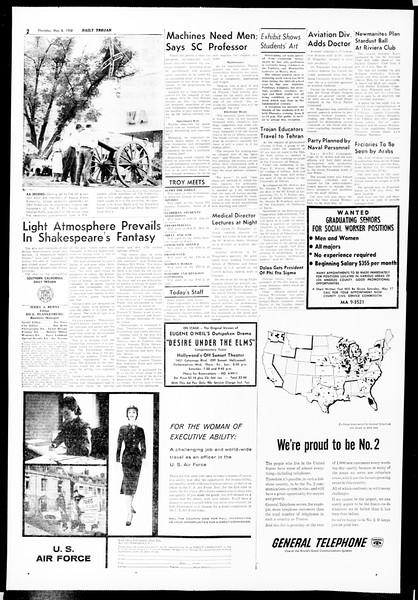 Daily Trojan, Vol. 49, No. 115, May 08, 1958