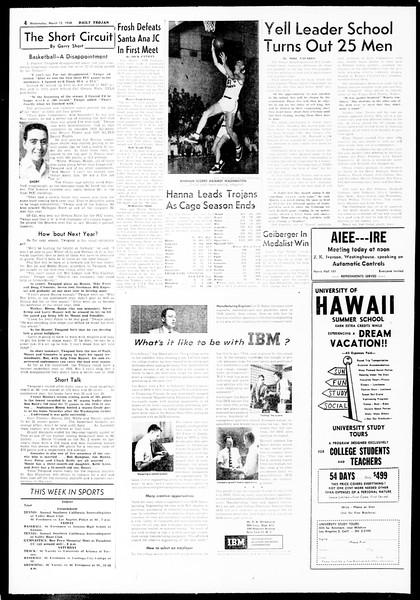 Daily Trojan, Vol. 49, No. 84, March 12, 1958