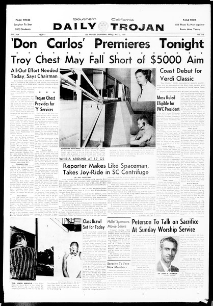Daily Trojan, Vol. 49, No. 112, May 02, 1958