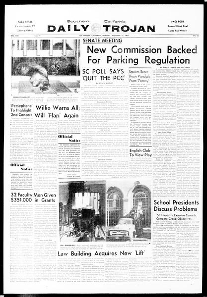 Daily Trojan, Vol. 49, No. 43, November 21, 1957