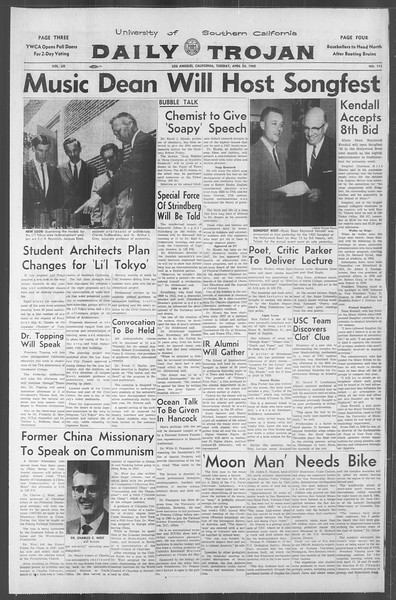 Daily Trojan, Vol. 53, No. 111, April 24, 1962