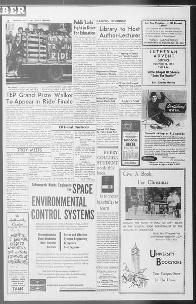 Daily Trojan, Vol. 53, No. 58, December 13, 1961
