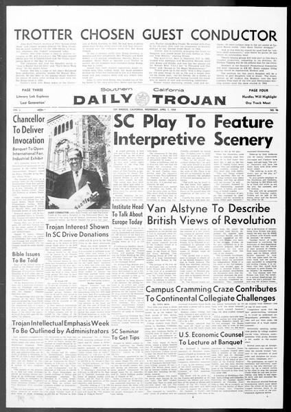Daily Trojan, Vol. 50, No. 96, April 01, 1959
