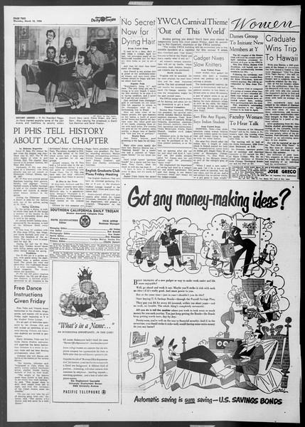 Daily Trojan, Vol. 45, No. 96, March 18, 1954
