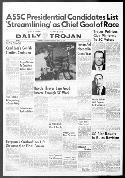 Daily Trojan, Vol. 50, No. 92, March 18, 1959