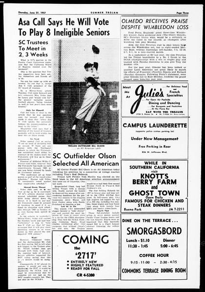 Summer Trojan, Vol. 12, No. 2, June 27, 1957