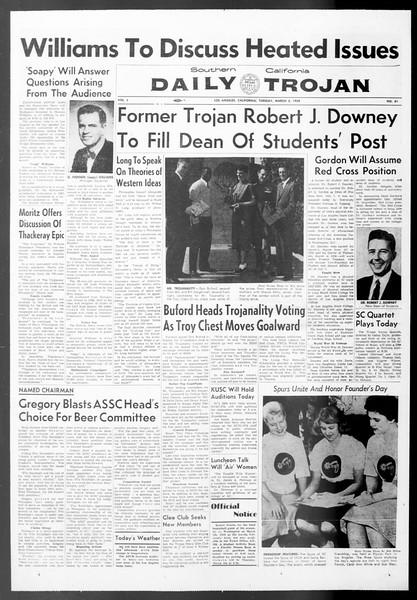 Daily Trojan, Vol. 50, No. 81, March 03, 1959