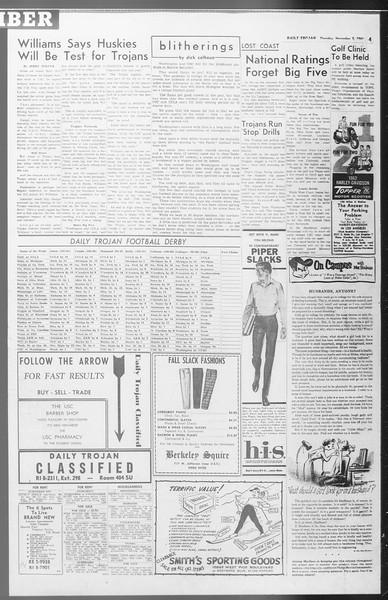 Daily Trojan, Vol. 53, No. 33, November 02, 1961