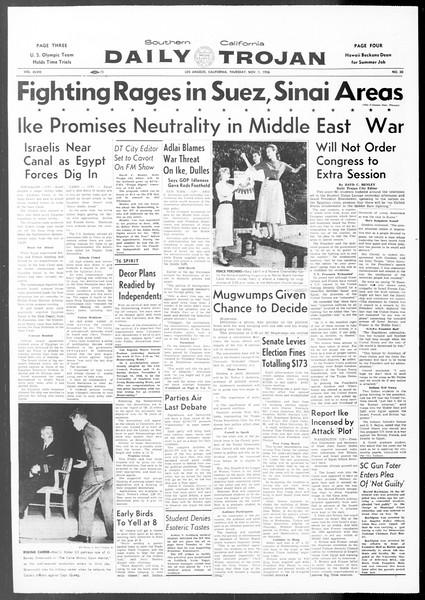 Daily Trojan, Vol. 48, No. 30, November 01, 1956