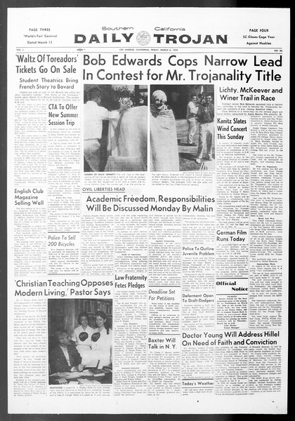 Daily Trojan, Vol. 50, No. 84, March 06, 1959