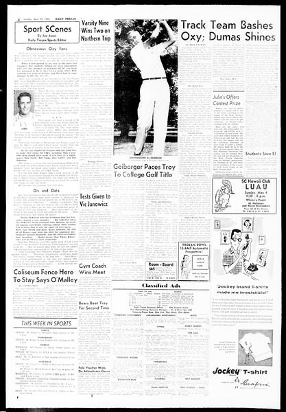Daily Trojan, Vol. 49, No. 109, April 29, 1958