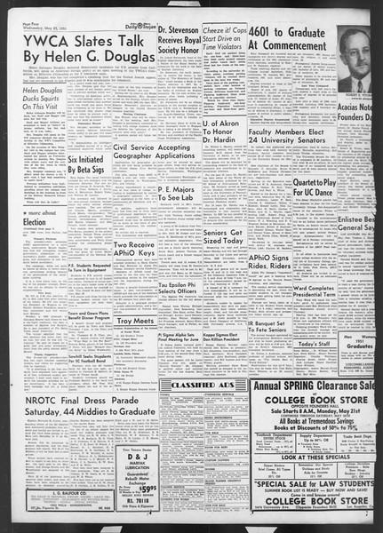 Daily Trojan, Vol. 42, No. 136, May 23, 1951