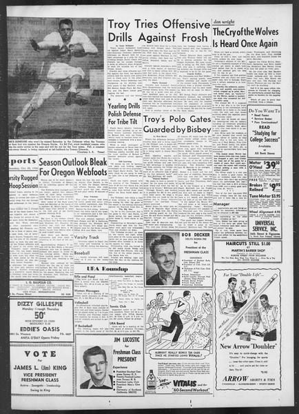 Daily Trojan, Vol. 42, No. 28, October 25, 1950