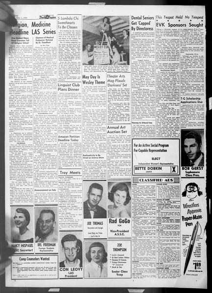 Daily Trojan, Vol. 44, No. 123, May 01, 1953