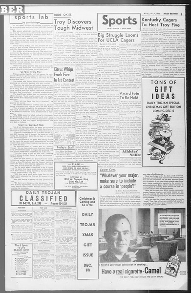 Daily Trojan, Vol. 53, No. 51, December 04, 1961