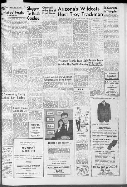 Daily Trojan, Vol. 47, No. 97, March 16, 1956