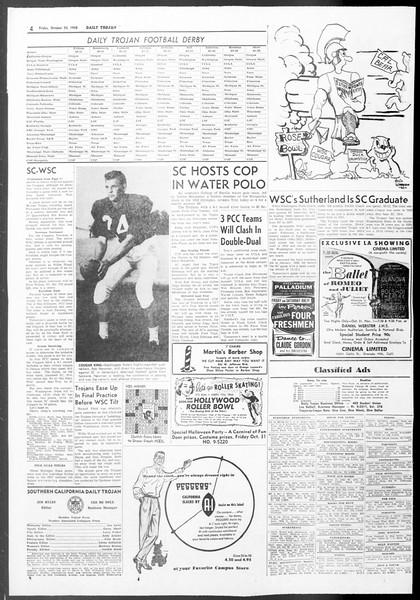 Daily Trojan, Vol. 50, No. 25, October 24, 1958