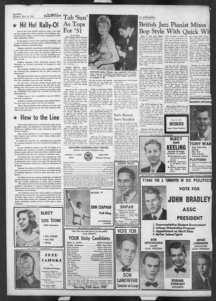 Daily Trojan, Vol. 42, No. 129, May 14, 1951