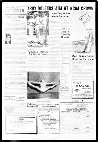 Daily Trojan, Vol. 49, No. 80, March 06, 1958