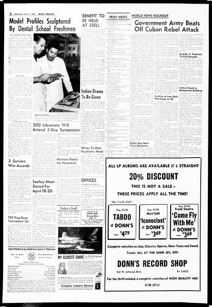 Daily Trojan, Vol. 49, No. 98, April 09, 1958