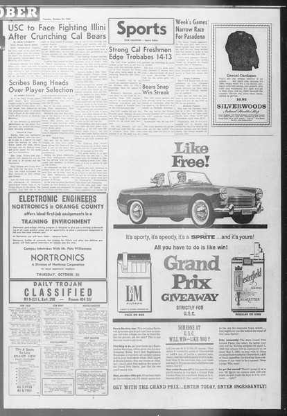 Daily Trojan, Vol. 53, No. 26, October 24, 1961
