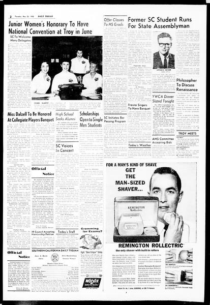 Daily Trojan, Vol. 49, No. 123, May 22, 1958