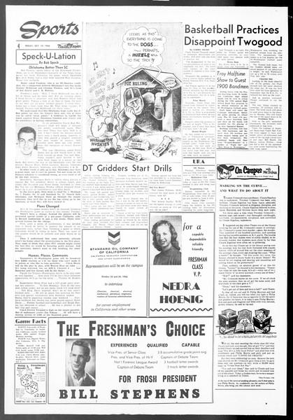 Daily Trojan, Vol. 48, No. 21, October 19, 1956