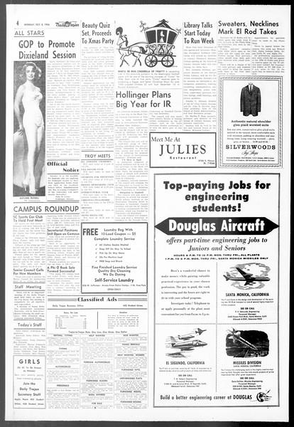 Daily Trojan, Vol. 48, No. 12, October 08, 1956