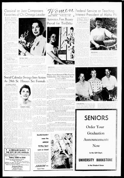 Daily Trojan, Vol. 49, No. 111, May 01, 1958