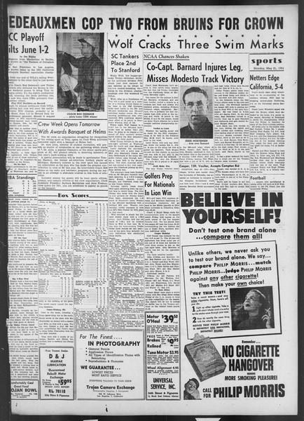 Daily Trojan, Vol. 42, No. 134, May 21, 1951