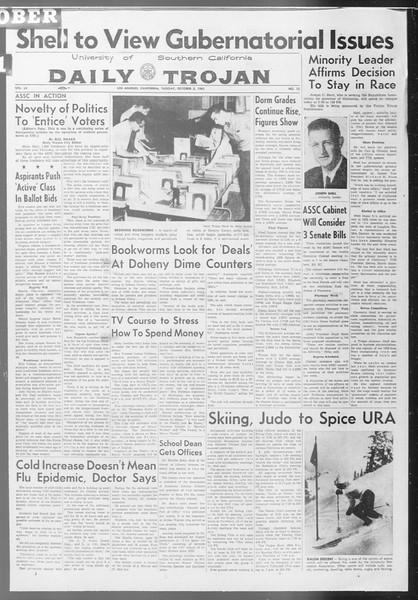 Daily Trojan, Vol. 53, No. 12, October 03, 1961