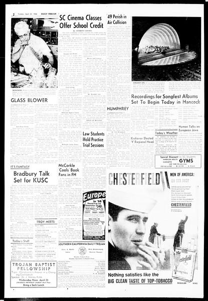 Daily Trojan, Vol. 49, No. 105, April 22, 1958