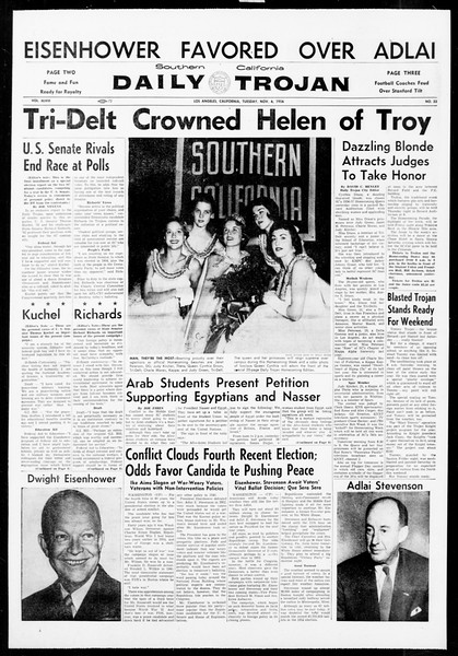 Daily Trojan, Vol. 48, No. 33, November 06, 1956