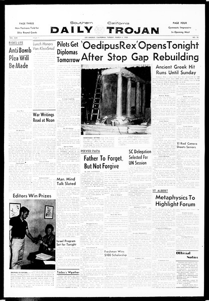 Daily Trojan, Vol. 49, No. 78, March 04, 1958