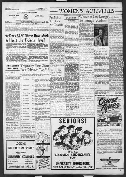 Daily Trojan, Vol. 42, No. 111, April 18, 1951