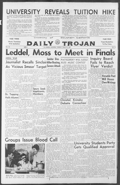 Daily Trojan, Vol. 53, No. 94, March 22, 1962