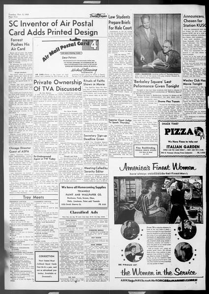 Daily Trojan, Vol. 45, No. 31, November 03, 1953