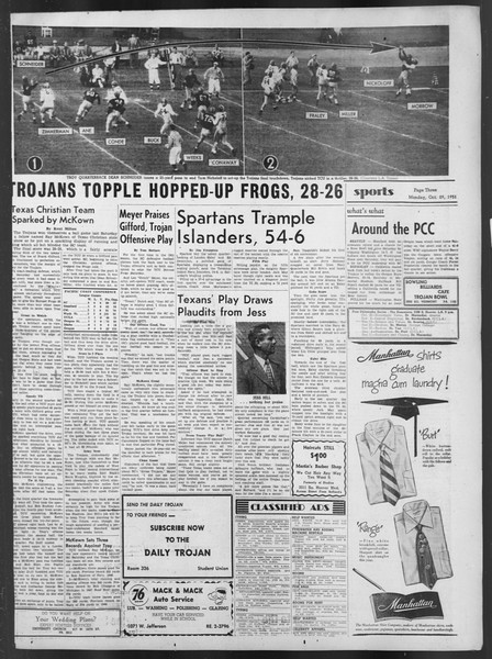 Daily Trojan, Vol. 43, No. 30, October 29, 1951