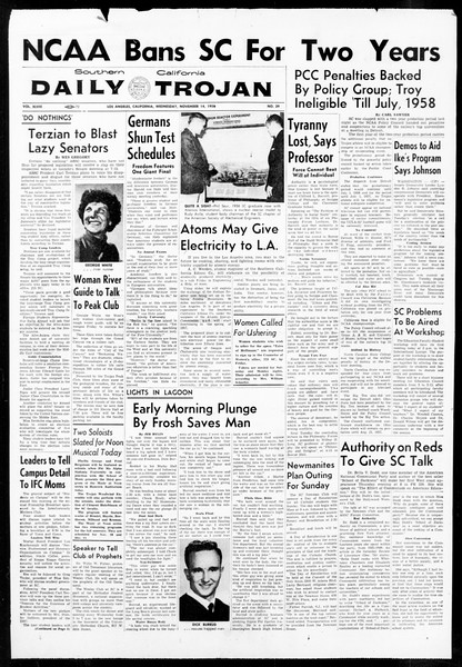 Daily Trojan, Vol. 48, No. 39, November 14, 1956