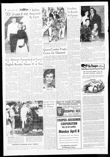 Daily Trojan, Vol. 48, No. 108, April 04, 1957