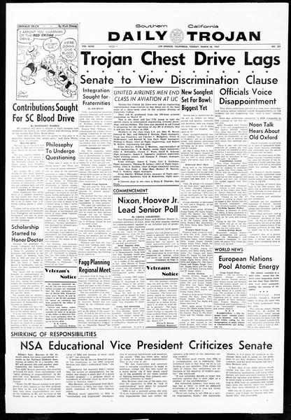 Daily Trojan, Vol. 48, No. 101, March 26, 1957