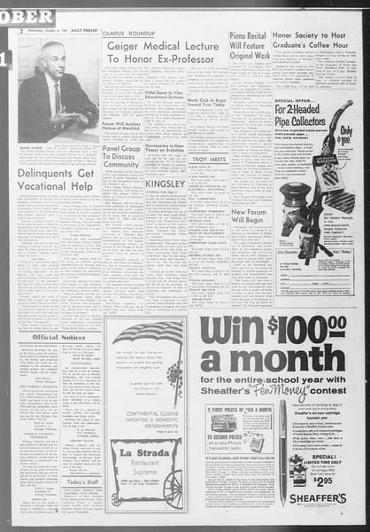 Daily Trojan, Vol. 53, No. 13, October 04, 1961