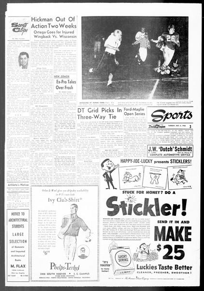 Daily Trojan, Vol. 48, No. 8, October 02, 1956
