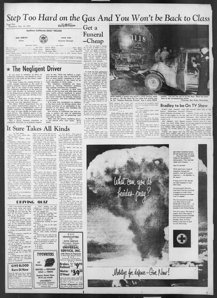 Daily Trojan, Vol. 43, No. 61, December 13, 1951