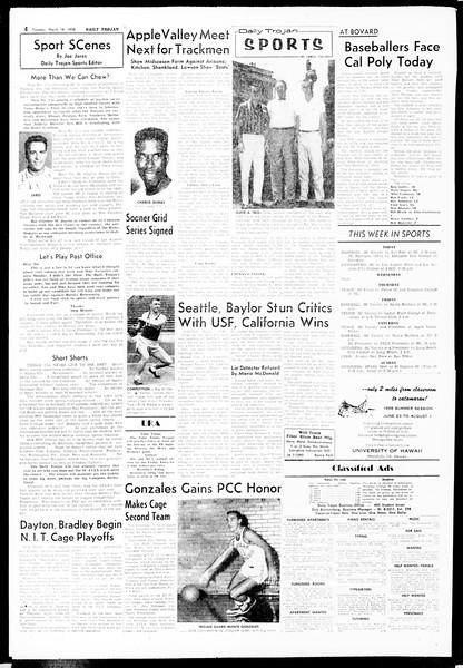Daily Trojan, Vol. 49, No. 88, March 18, 1958
