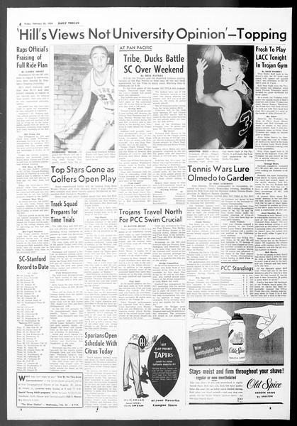 Daily Trojan, Vol. 50, No. 74, February 20, 1959